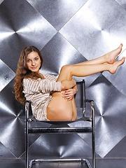 Euro Teen Strips Nude On 82