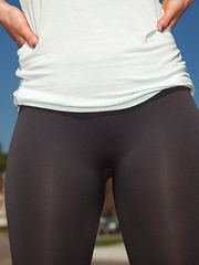 Sheer Pantyhose Works Out 104