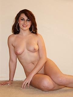 Cute redhead honey Tori Segura reveals her delicious boobies in public