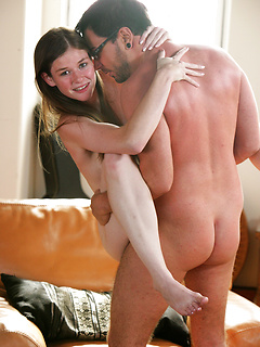 Gorgeous Lara Brookes takes a massive shaft deep inside of her orgasmic cunt