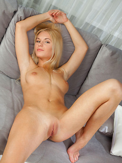 Exceptional beauty Xena has long blonde hair and perfect perky tits to arouse with