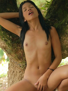 Visit the jungle with hot Latin chick Carolina Lopez as she models a bikini